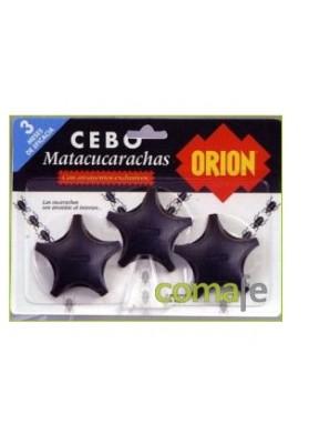 ORION INSECTICIDA CUCARACHAS, CEBOS 3 UNIDADES