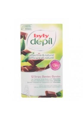 BYLY DEPILADORA BANDAS CORPORALES CHOCOLATE 12 UNIDADES