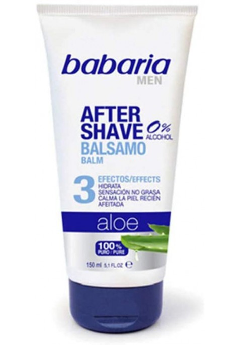 BABARIA MEN AFTER SHAVE BÁLSAMO 0% ALCOHOL 150 ML