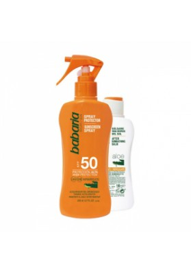 BABARIA PACK SPRAY PROTECTOR SPF-50 ALOE VERA 200 ml + AFTER SUN ALOE VERA 100 ML