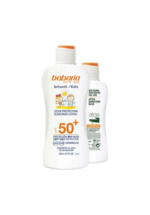 BABARIA SPRAY PROTECTOR SOLAR F50 CR PIS INFANTIL 200 ML+AFTER SUN