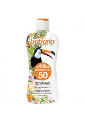 BABARIA TROPICAL LECHE PROTECTORA ACELERA F50 200 ML
