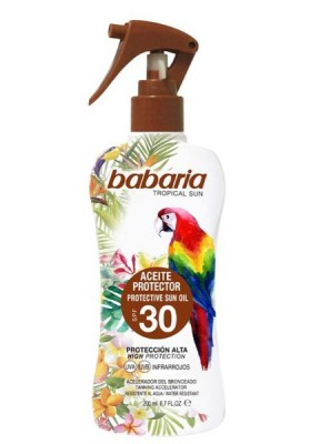 BABARIA TROPICAL PISTOLA ACEITE PROTECTOR F30 200 ML