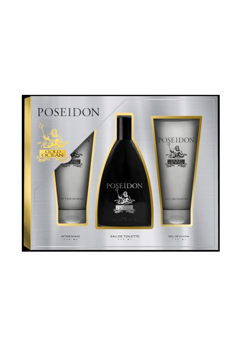 POSEIDON GOLD OCEAN MEN ESTUCHE 3 PIEZAS