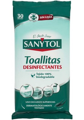 SANYTOL TOALLITAS DESINFECTANTES 30 UNIDADES