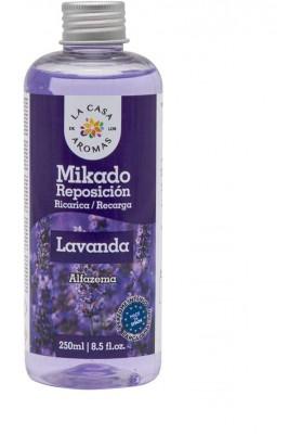 CASA AROMA MIKADO REPOSICIÓN LAVANDA 250 ML