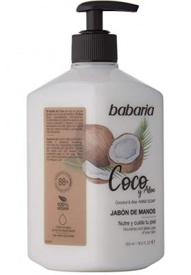 BABARIA COCO JABÓN LÍQUIDO MANOS 500 ML
