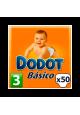 DODOT BASICO PAÑAL 5-10 KG TALLA 3 50 UNIDADES