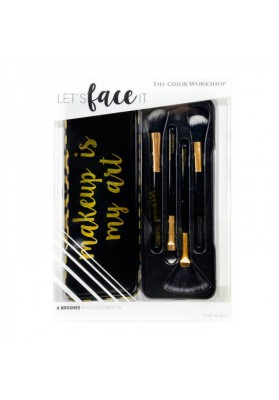 MARKWINS SET BROCHAS MAQUILLAJE BRUSH LET'S FACE IT