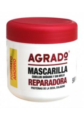 AGRADO MASCARILLA CAPILAR REPARADORA 500 ML.