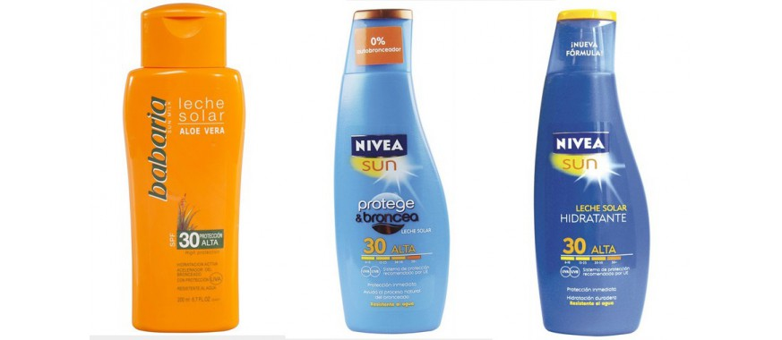 Protectores solares corporales y faciales